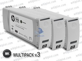 HP Nº771C negro mate multipack 3x775ml.