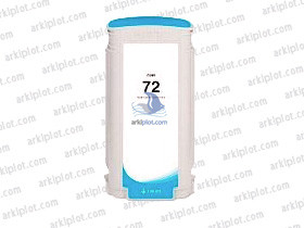 Tinta compatible HP Nº72 cian 130ml.