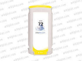 Tinta compatible HP Nº72 amarillo 130ml.